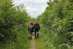 Wandelaars bij Starkenborgh